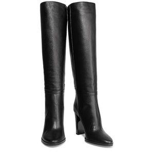 JIMMY CHOO Pebbled Leather Haywood 95 Knee Boots